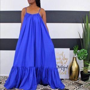 Beautiful royal blue maxi dress